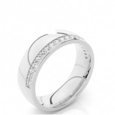 Men's Round Diamond Wedding Bands