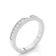 2.70mm Pave Setting Studded Diamond Shaped Band - CLRN838_01