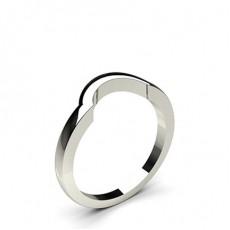 1.80mm Slight Comfort Fit Plain Curve Shaped Wedding Band