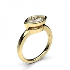 Bague de fiançailles solitaire diamant marquise serti clos - CLRN849_01