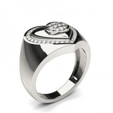 Pave Setting Round Diamond Fashion Ring - CLRN850_01