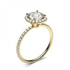 Yellow Gold Side Stone Diamond Rings