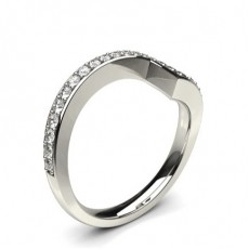 2.50mm Studded Slight Comfort Fit Dome Profile Diamond Shaped Band