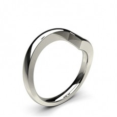 2.50mm Dome Profile Plain Shaped Wedding Band