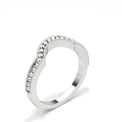 Gespickt Leichte Passform Diamant Hochzeits Formband