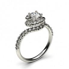 White Gold Diamond Engagement Ring - CLRN887_01
