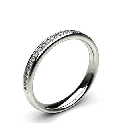 3.10mm Studded Standard Fit Diamond Wedding Band