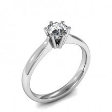 Bague de fiançailles solitaire diamant rond serti 6 griffes - CLRN900_01