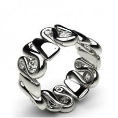 9.50mm Half Bezel Setting Full Eternity Diamond Ring - HG0619_17