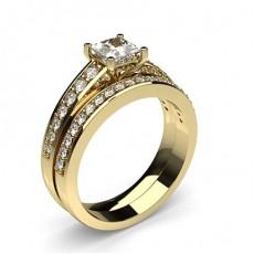 Princess Yellow Gold Engagement Rings