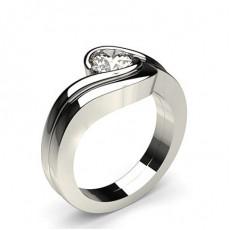 White Gold Bridal Set Diamond Engagement Ring - CLRN920_01