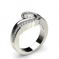 White Gold Bridal Set Diamond Engagement Ring - CLRN920_02