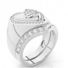 White Gold Bridal Set Diamond Engagement Ring - CLRN940_01