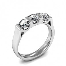 Bar Setting Plain Three Stone Ring - CLRN947_01