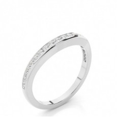 Round Platinum Woman Shaped Bands