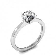 Bague de fiançailles solitaire diamant Rond serti 4 griffes