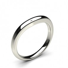 Slight Comfort Fit Plain Shaped Wedding Band - CLRN959_02