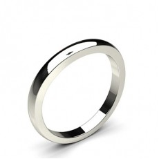 2.60mm Slight Comfort Fit Plain Wedding Band - CLRN960_02