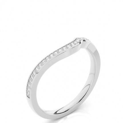 Gespickt Leichte Passform Diamantförmig Band