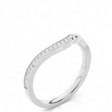 1.70mm Studded Slight Comfort Fit Diamond Shaped Band