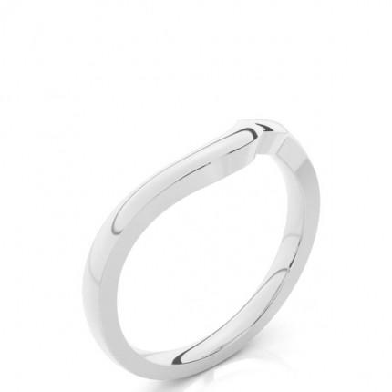 Beschlagene Leicht Komfort Passform Diamantförmig Band