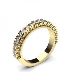 Princess Yellow Gold Diamond Half Eternity Rings