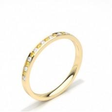 Round Yellow Gold Diamond Rings