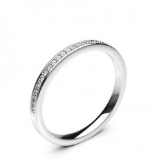 Pave Setting Half Eternity Diamond Ring - HG0606_P22