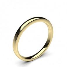 Yellow Gold Wedding Bands Women Plain