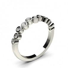 Full Bezel Setting Half Eternity Diamond Ring - CLRN970_01
