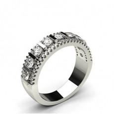 4 Prong & Bar Setting Half Eternity Diamond Ring