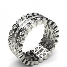 Mixed Shapes Platinum Diamond Eternity Rings