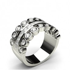 Princess Diamond Half Eternity Rings