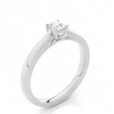 Bague de fiançailles solitaire diamant rond serti demi-clos