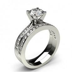 White Gold Bridal Set Diamond Engagement Ring - CLRN984_01