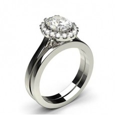 4 Prong Setting Plain Engagement Ring With Matching Band (Available from 0.90ct. to 1.25ct.)