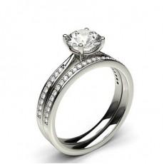 White Gold Bridal Set Diamond Engagement Ring - CLRN990_03