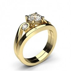 Round Yellow Gold Engagement Rings