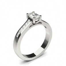 4 Prong Setting Side Stone Engagement Ring - CLRN1018_01
