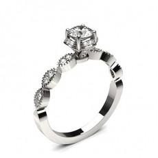 White Gold Diamond Engagement Ring - CLRN1025_01