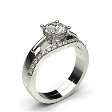 4 Prong Setting Plain Engagement Ring With Matching Band (Available from 0.90ct. to 1.10ct.)