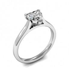 3 Prong Setting Heart Diamond Plain Engagement Ring - CLRN1042_01