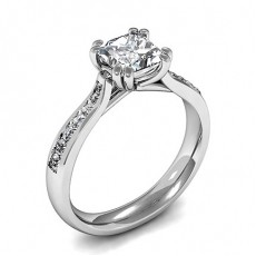 Double Prong Setting Side Stone Engagement Ring - CLRN1044_01