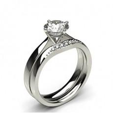 Diamant Verlobungsring in einer Krappenfassung mit passenden Ring  (Verfügbar in 0.90ct. bis zu 1.10ct.)