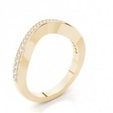Alliance courbée confort diamant rond serti pavé 2.3mm - CLRN1059_01