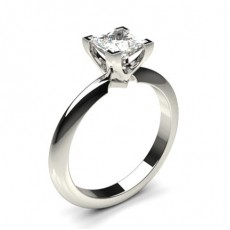 4 Prong Setting Princess Diamond Plain Engagement Ring - CLRN1061_01