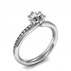 Diamant Verlobungsring in einer Krappenfassung mit Schulter Diamanten - CLRN1085_01