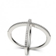 Pave Setting Round Diamond Delicate Ring - CLRN1092_01