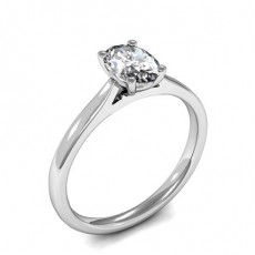 Oval Platinum Classic Solitaire Engagement Rings