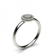 Pave Setting Round Diamond Delicate Ring - CLRN1111_01